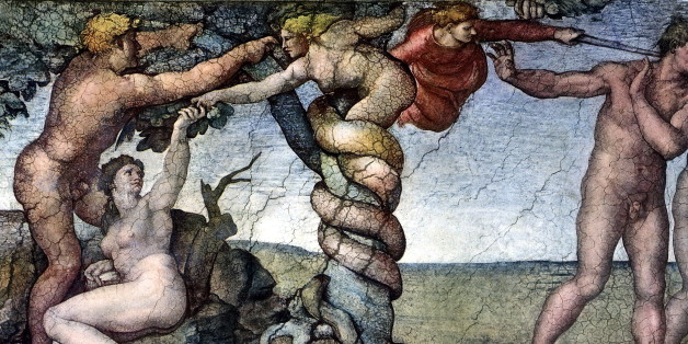 (GERMANY OUT) Fresco (detail) in the Sistine Chapel, Vatican, Rome by Michelangelo: Fall of Man and Expulsion from Paradise, around 1510  (Photo by ullstein bild/ullstein bild via Getty Images)