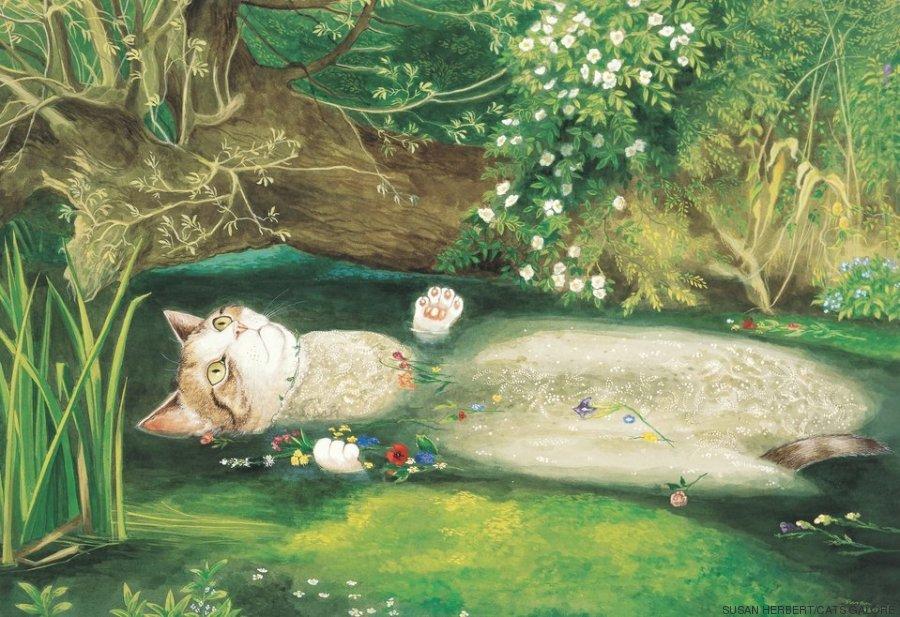 Los gatos se convierten en protagonistas de obras de arte: así son ...