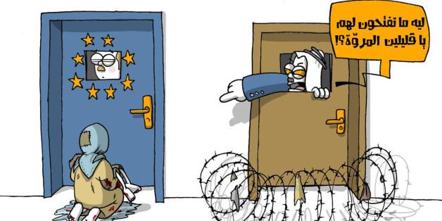Dessin du cartooniste saoudien Abdullah Jaber pour le journal Makkah.