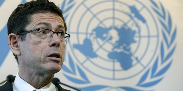 United Nations Assistant Secretary-General for Human Rights, Ivan Simonovic, attends a stake-out on March 2, 2015 at the UN offices in Geneva. UN said more than 6,000 people have been killed since violence erupted in east Ukraine last April, decrying a 'merciless devastation of civilian lives and infrastructure.'  AFP PHOTO / FABRICE COFFRINI        (Photo credit should read FABRICE COFFRINI/AFP/Getty Images)