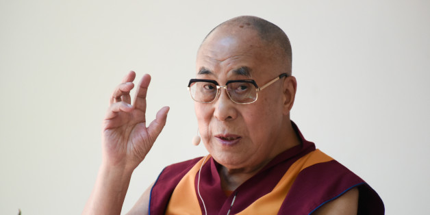 The Dalai Lama speaks during the Peak Mind Foundation celebration held at Rancho Las Lomas on Saturday, July 4, 2015 in Silverado, Calif. The exiled Tibetan spiritual leader turns 80 on Monday. (Photo by Richard Shotwell/Invision/AP)