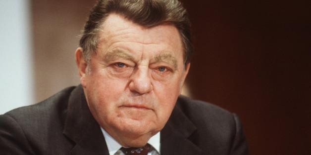 Franz-Josef Strauß im Jahr 1986, zwei Jahre vor seinem plötzlichen Tod
