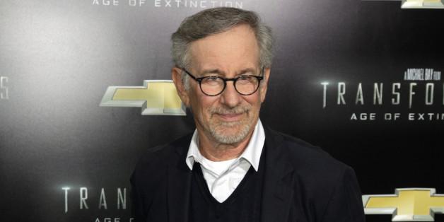 """Steven Spielberg bei der Premiere von """"Transformers: Age of Extinction"""" in New York"""