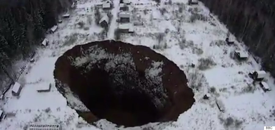 russian sinkhole before