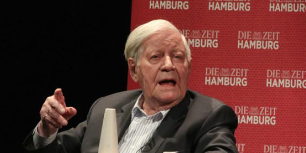 Helmut Schmidt während eines Interviews im Mai 2015