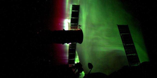 PHOTOS. Une aurore boréale photographiée depuis l'espace