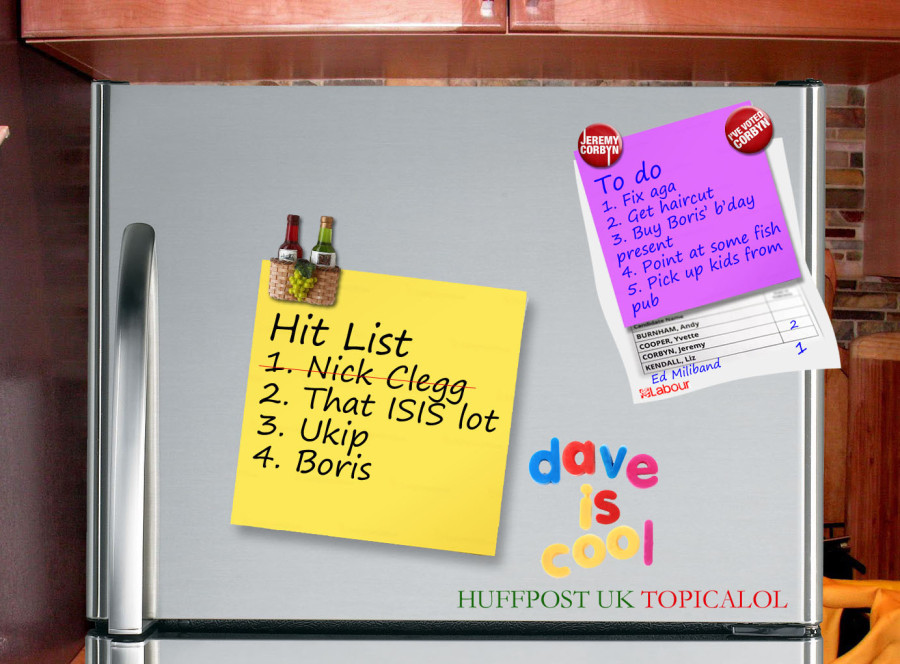 david cameron hit list fridge huffington post come