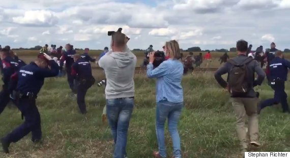 hungary refugee kick trip