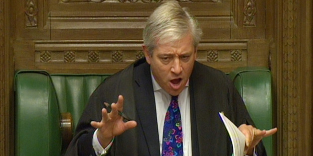 Commons Speaker John Bercow during Prime Minister's Questions in the House of Commons