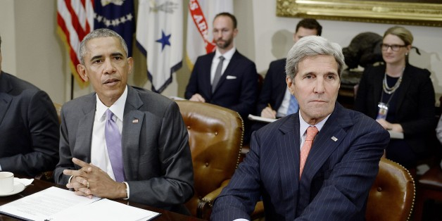 Barack Obama und John Kerry gestern in Washington