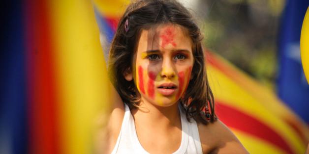 [UNVERIFIED CONTENT] A kid involved in the manifestation of National Day of Catalunya.  Una niña se manifiesta durante la diada de Cataluña.  Una nena es manifesta a Barcelona durant la Diada de Catalunya, 11 de setembre.