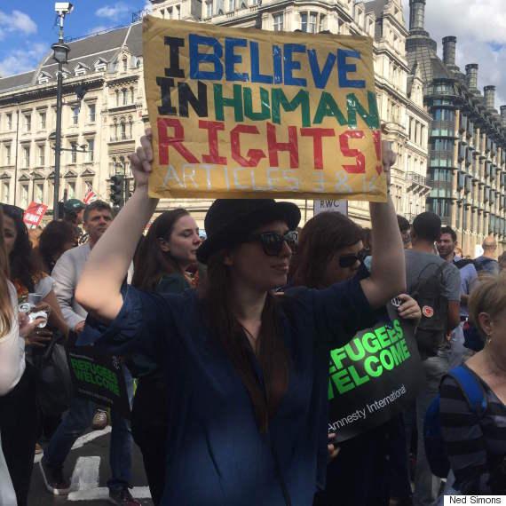 refugee march whitehall