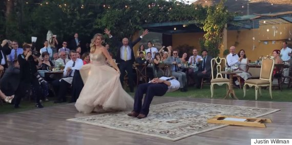 levitating groom