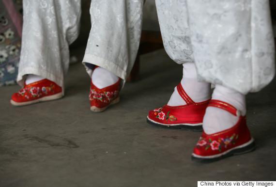 chinese women bound feet