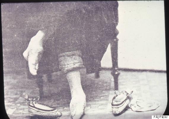 women bound feet china