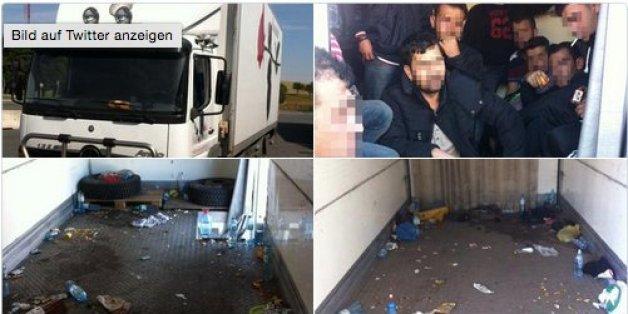 Österreichische Polizei befreit 42 Flüchtlinge aus Kühllaster