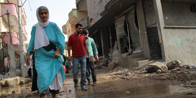 Zerstörungen in Cizre nach den Kämpfen zwischen PKK und türkischem Militär