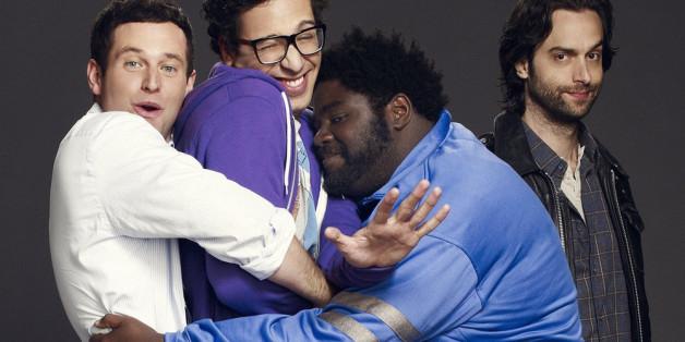 "Die ""Undateables"" (v.l.n.r.): Justin (Brent Morin), Burski (Rick Glassman), Shelly (Ron Funches) und Danny (Chris D'Elia)"