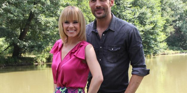 """Francine Jordi (38) und Alexander Mazza (42), die Moderatoren der """"Stadlshow"""""""