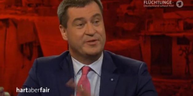 """Markus Söder bei """"Hart aber fair"""""""