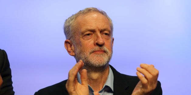 Labour party leader Jeremy Corbyn on stage at the TUC Congress at the Brighton Centre.