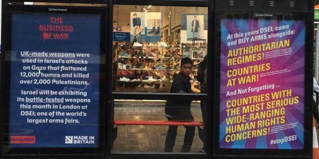 Bansky et les artistes de Dismaland font de la pub contre la foire aux armes à Londres (PHOTOS)