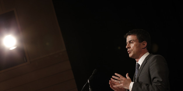 "French Prime Minister Manuel Valls delivers a speech during an international conference of anti-terror judges in Paris, France, Wednesday, April 29, 2015. ""Even though there are different methods, with different imperatives, we can clearly see there is a terror system linking them all, under the influence of ISIS or others,"" French Justice minister Christiane Taubira said, using an alternate acronym for the militant group. (AP Photo/Christophe Ena)"