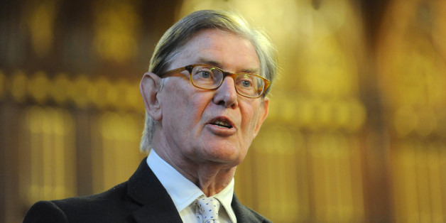 MP Bill Cash speaks to delegates at an event at Manchester Town Hall during the Conservative Conference 2013.