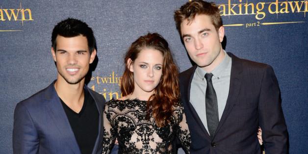 """Kristen Stewart, Robert Pattinson (r.) und Taylor Lautner (l.) bei der Europa-Premiere von """"Breaking Dawn - Bis(s) zum Ende der Nacht - Teil 2"""""""