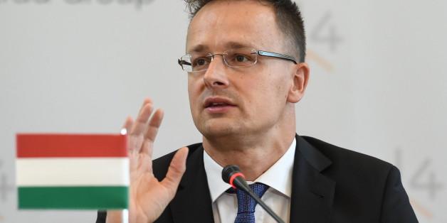Der ungarische Außenminister Péter Szijjártó ist gegen eine Flüchtlingsquote