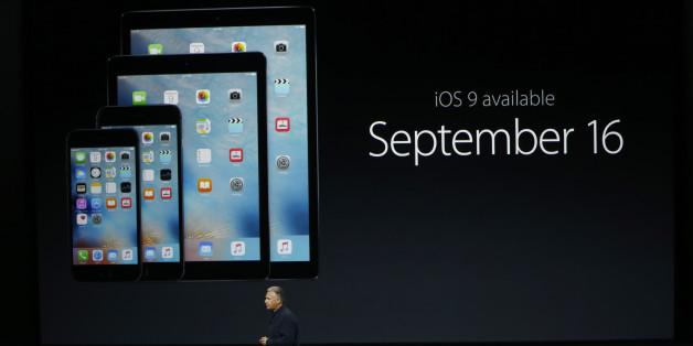 Bei der Präsentation des iOS9-Updates in San Francisco