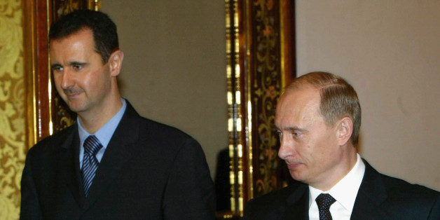 Wladimir Putin und Bashar al-Assad im Jahr 2005 in Moska