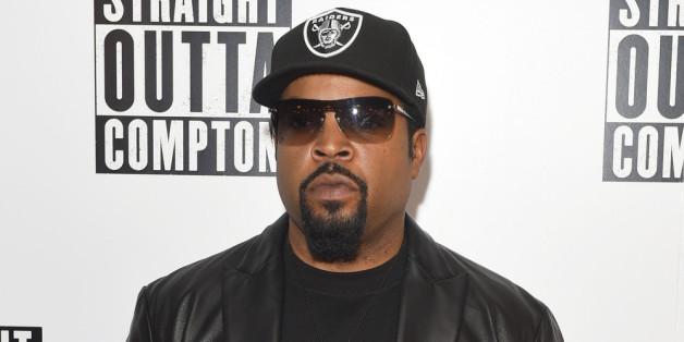 """Ice Cube bei der Vorstellung des von ihm produzierten Films """"Straight Outta Compton""""."""