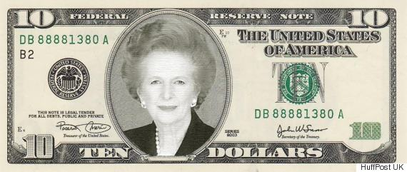 thatcher dollar bill
