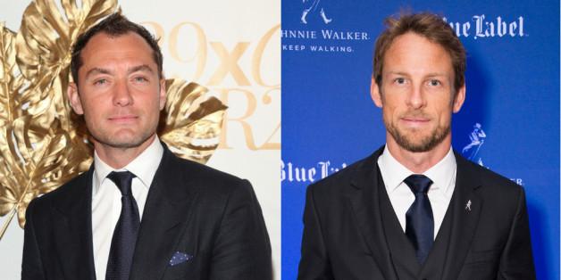 Jude Law und Jenson Button haben mehr gemeinsam als die Vorliebe für dunkle Anzüge.