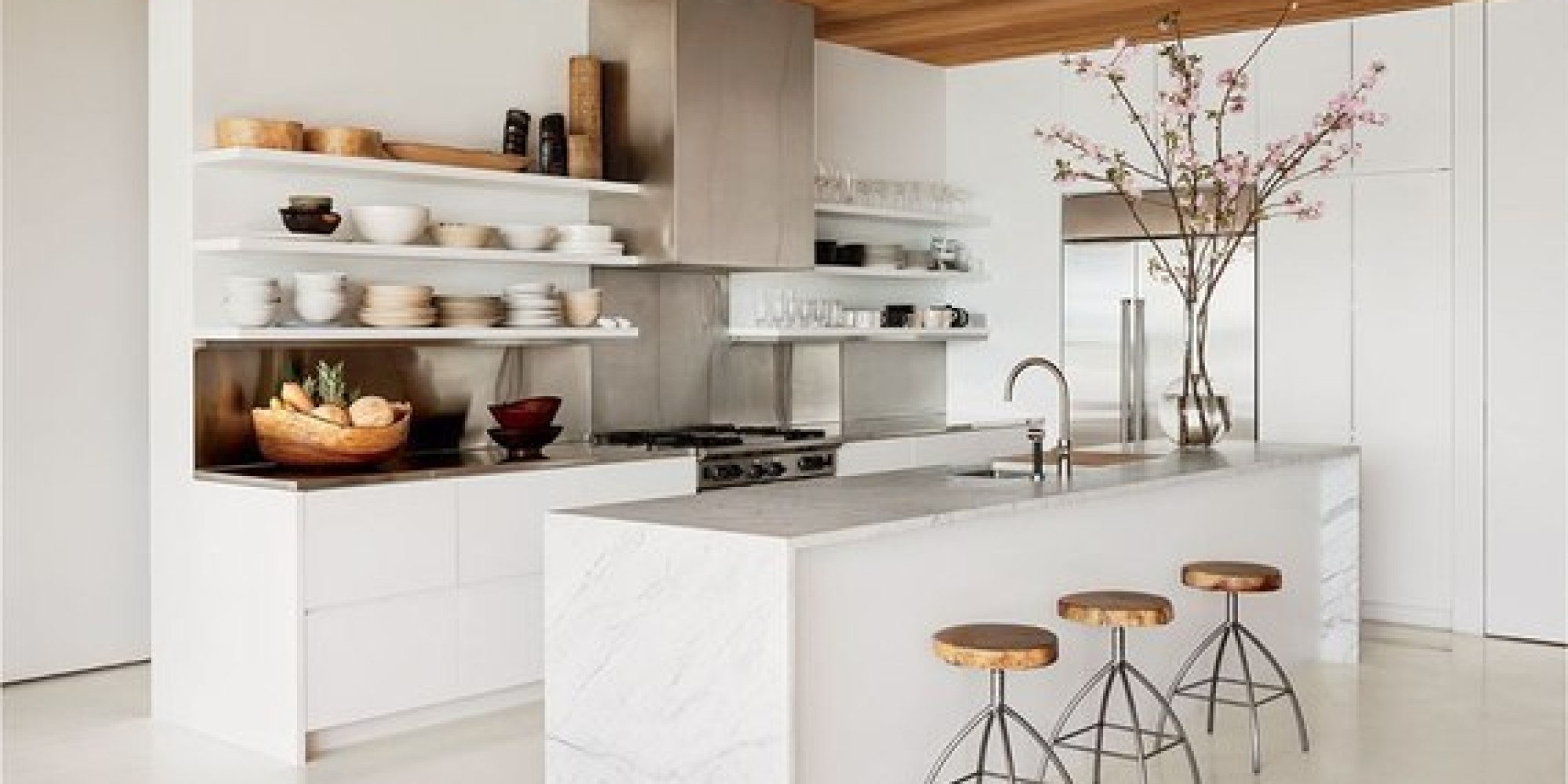 8 Ways To Have Open Shelving In Your Kitchen | HuffPost