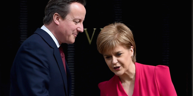 EDINBURGH, SCOTLAND - MAY 15:  British Prime Minster David Cameron meets with Scottish First Minister and leader of the SNP Nicola Sturgeon at Bute House on May 15, 2015 in Edinburgh, Scotland. The two leaders are meeting for the first time since the general election, in which it is expected increased powers for the Scottish Parliament will dominate the agenda.  (Photo by Jeff J Mitchell/Getty Images)