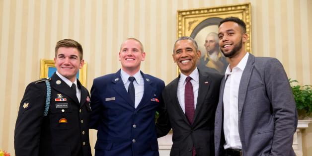Obama empfängt die Thalys-Helden im Weißen Haus