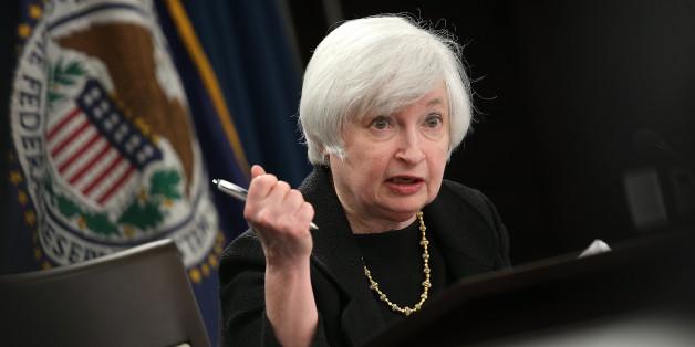 Fed-Chefin Janet Yellen bei der Pressekonferenz gestern
