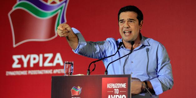 Alexis Tsipras während des Wahlkampfs
