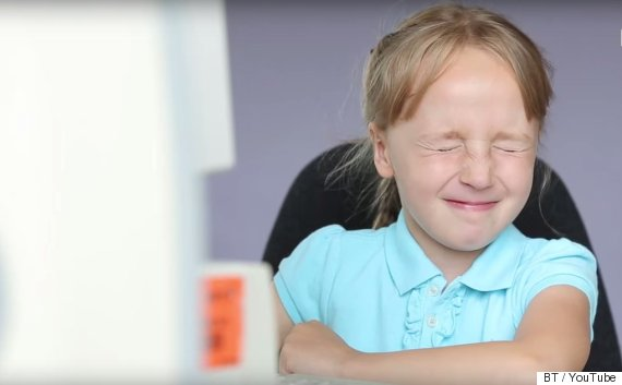 kids try dial up internet