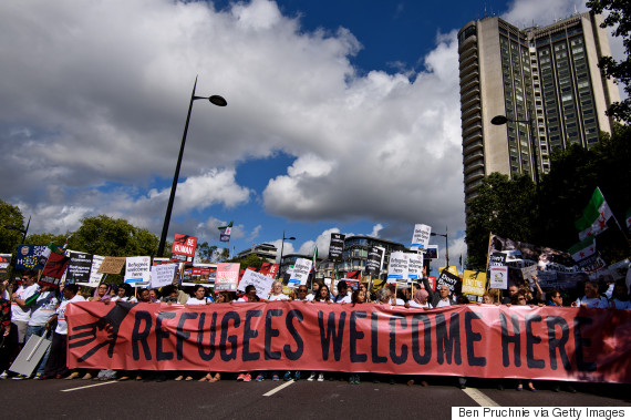 refugee march london