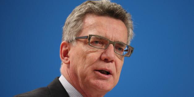 Innenminister Thomas de Maizière äußert sich zur Flüchtlingskrise