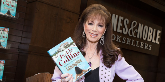 LOS ANGELES, CA - JUNE 24:  Author Jackie Collins signs and discusses her new book 'The Santangelos' at Barnes & Noble bookstore at The Grove on June 24, 2015 in Los Angeles, California.  (Photo by Vincent Sandoval/Getty Images)