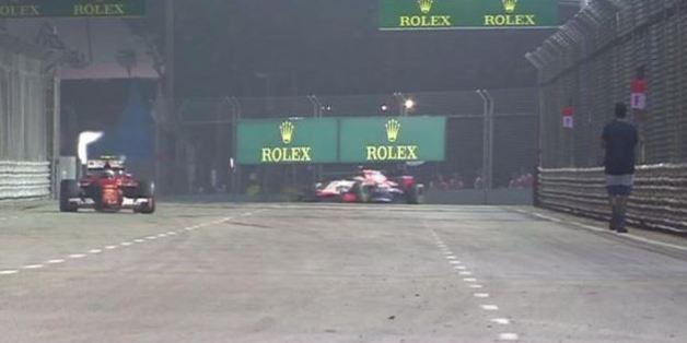 Le Grand Prix de Singapour neutralisé après l'irruption d'un homme sur la piste