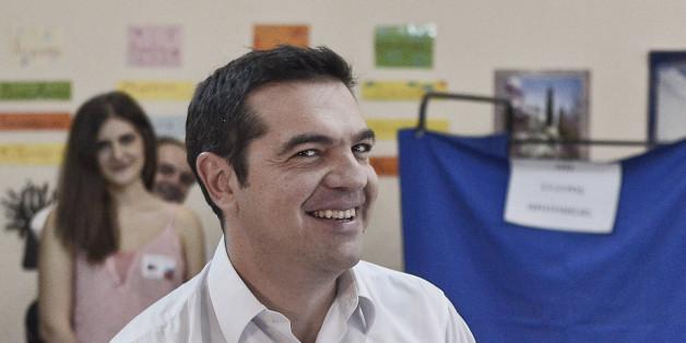 Griechenland-Wahl: Tsipras liegt nach ersten Hochrechnungen vorn