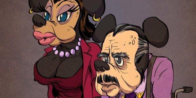Les personnages de Disney revisités en personnes âgées (PHOTOS)