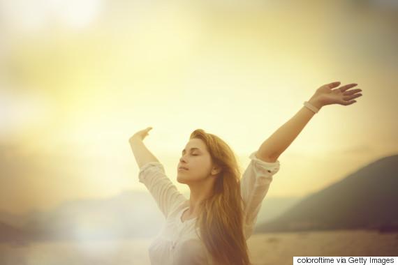 woman sunset