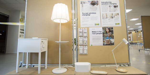 ALMHULT, SWEDEN - MAY 12: IKEA is launching a collection of furniture that can wirelessly charge electronic devices as seen here at the Democratic Design Dat conference at IKEA headquarters in rural Sweden. May 12, 2015.        (Randy Risling/Toronto Star via Getty Images)
