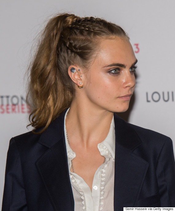 London Fashion Week Cara Delevingne Rocks Braid Pony At Louis